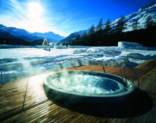 heated outdoor whirlpool-suvretta house switzerland