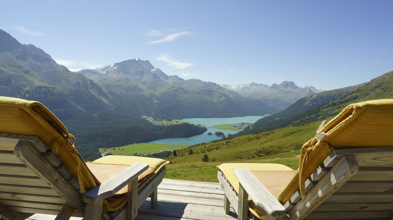 sunlouger terrace alps-suvretta house switzerland