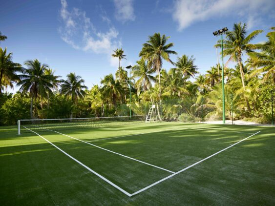 tennis court-the brando french polynesia