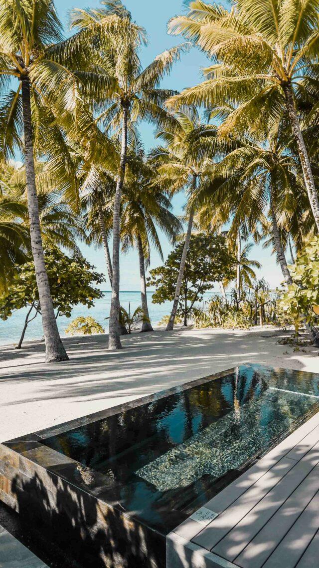 private pool at the beach-the brando