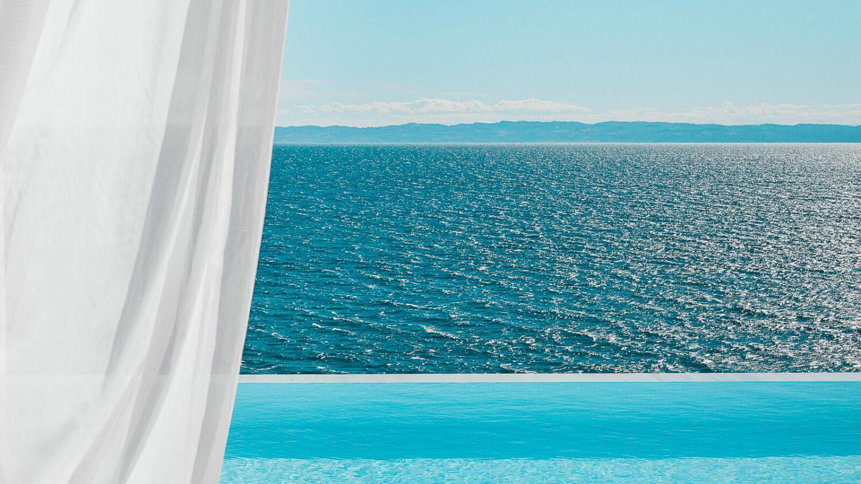 infinity pool view on ocean-the danai beach resort greece