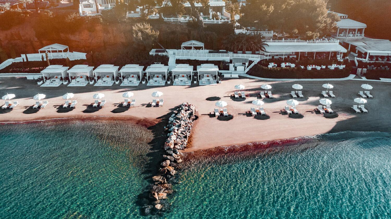 overview beach area-the danai beach resort greece