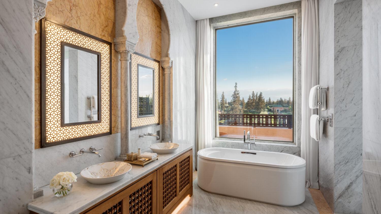 moroccan bathroom design-the oberoi marrakech