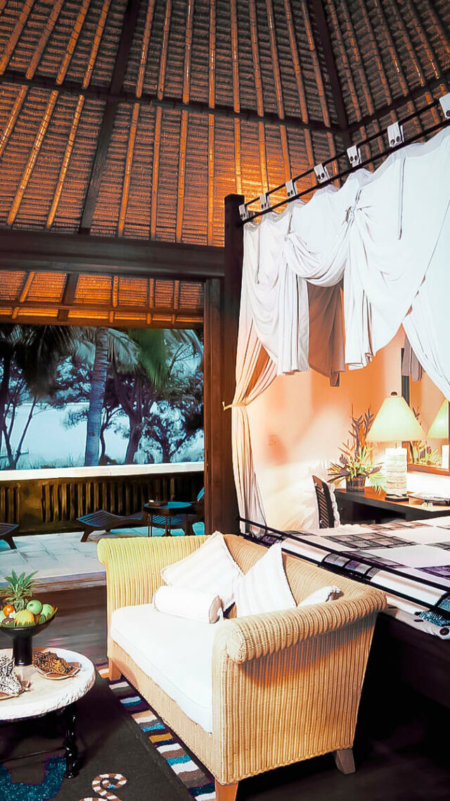 bedroom with a view-the oberoi beach resort lombok