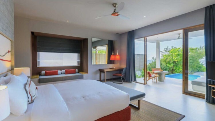 bedroom beach villa-dhigali maldives