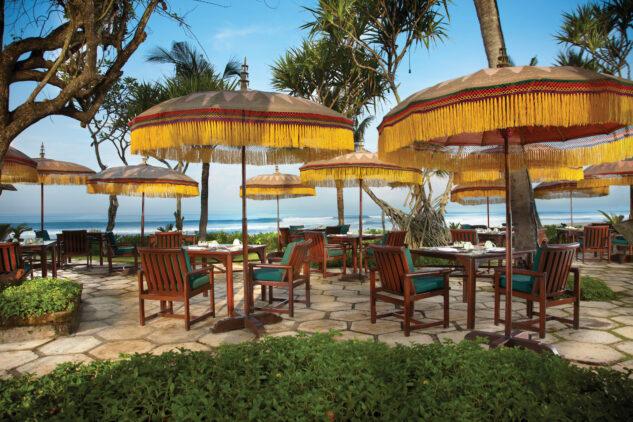 frangipani café best restaurant bali-the oberoi beach resort bali