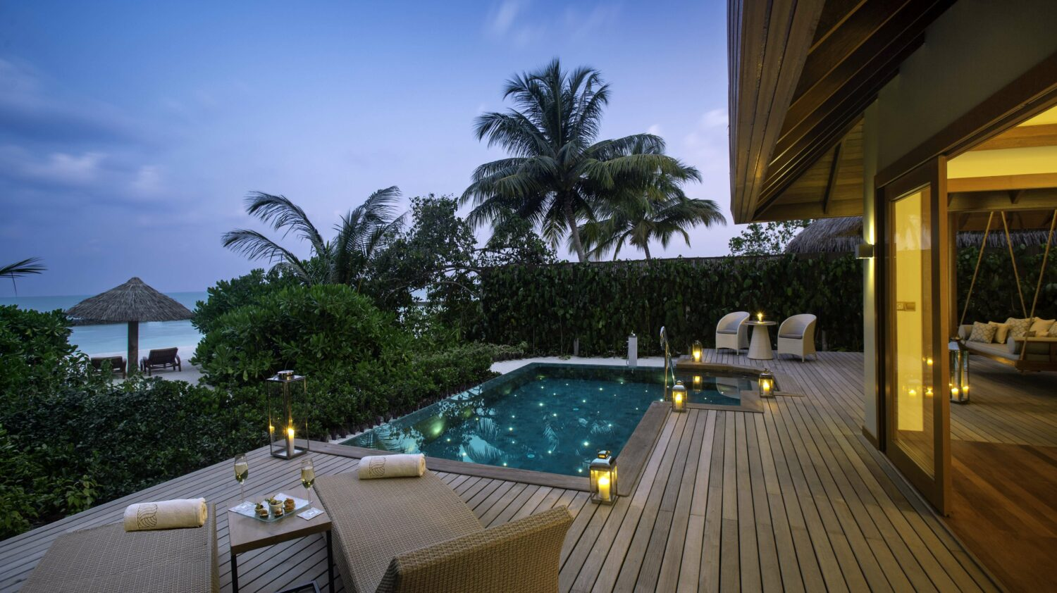 terrace with pool-baros maldives