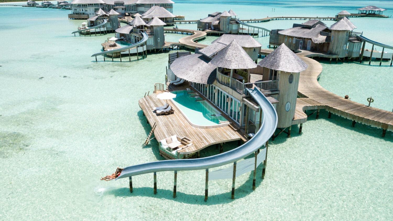 waterslide villa-soneva jani maldives