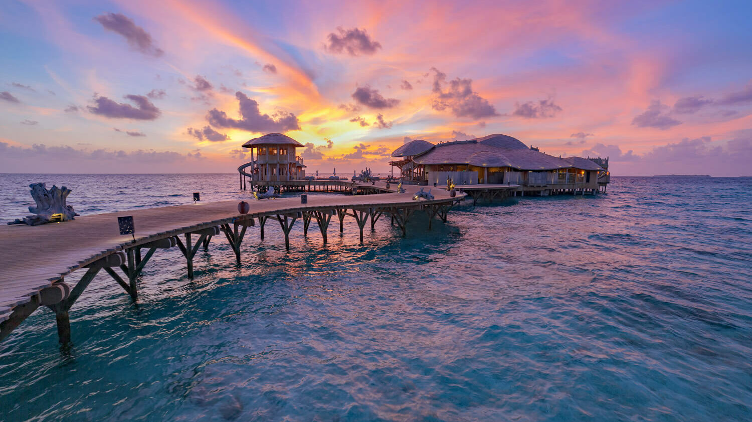 sunset ocean view-soneva fushi maldives