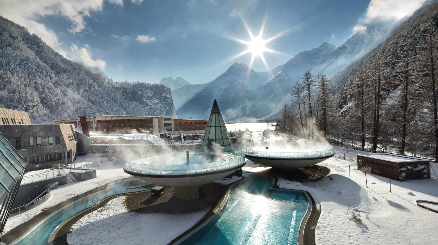 heated outdoor pool-aqua dome austria