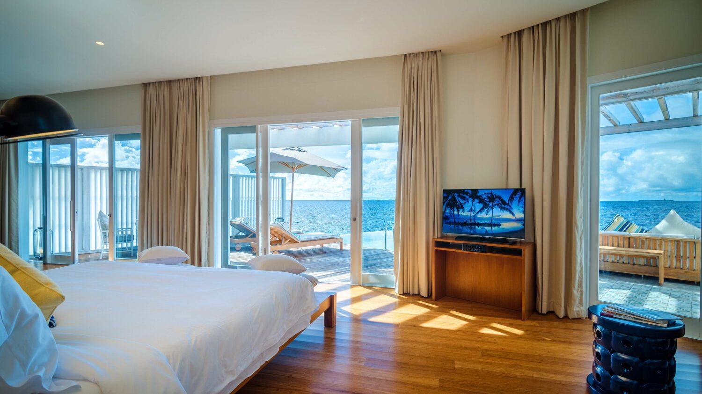 bedroom ocean reef house-amilla fushi maldives