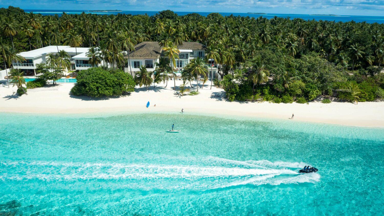 aerial shot-amilla fushi maldives