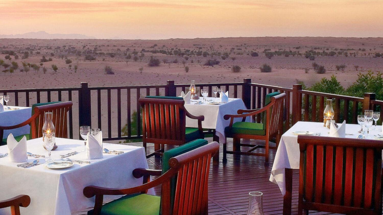 terrace restaurant-al maha desert resort