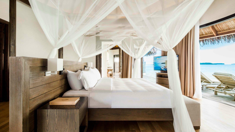 bedroom overwater villa-COMO maalifushi maldives