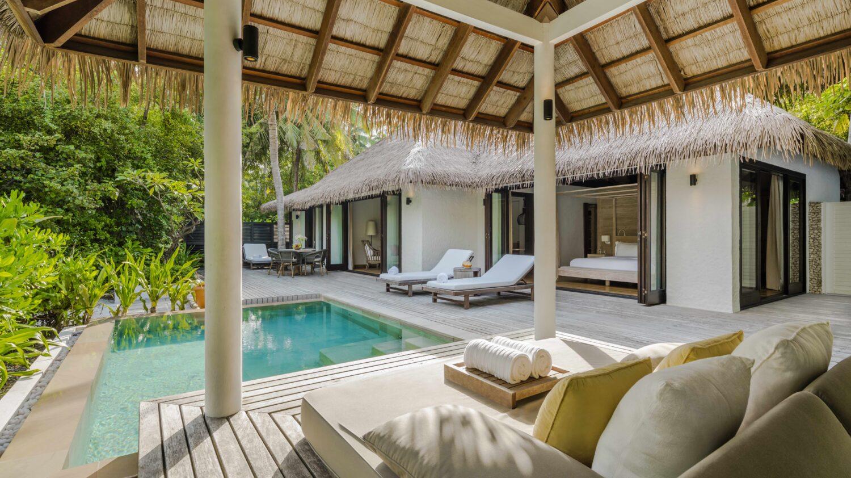 beach villa with pool-COMO maalifushi maldives