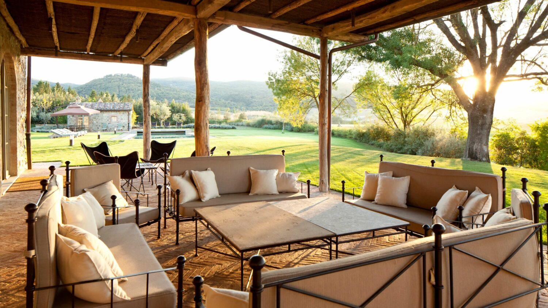 terrace-rosewood castiglion del bosco italy