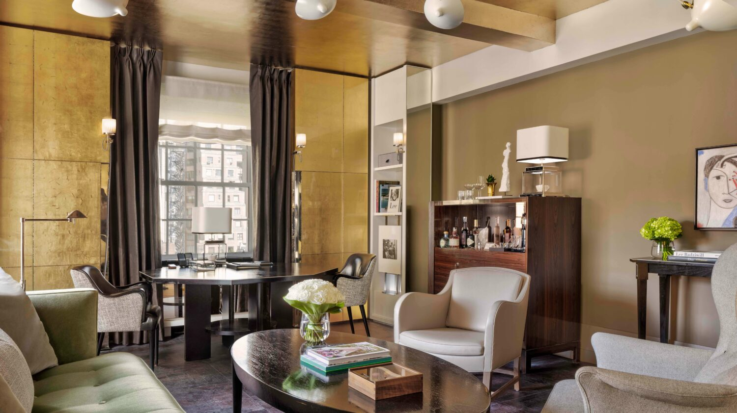 suite livingroom-the carlyle, a rosewood hotel nyc