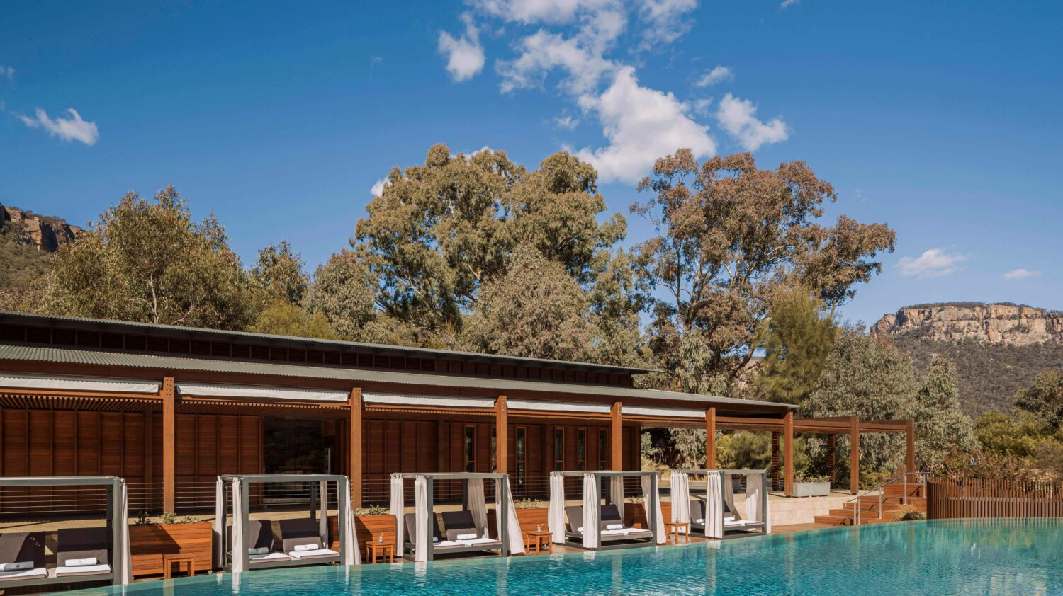pool cabanas-emirates one&only wolgan valley australia