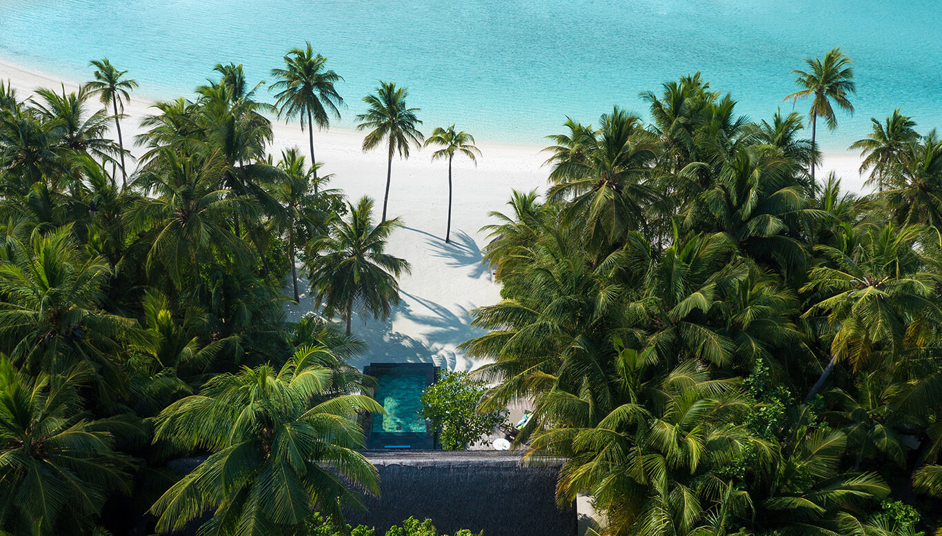 beach villa with pool-one&only reethi rah maldives