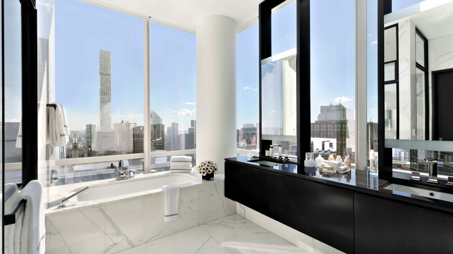 bathroom view-park hyatt new york city