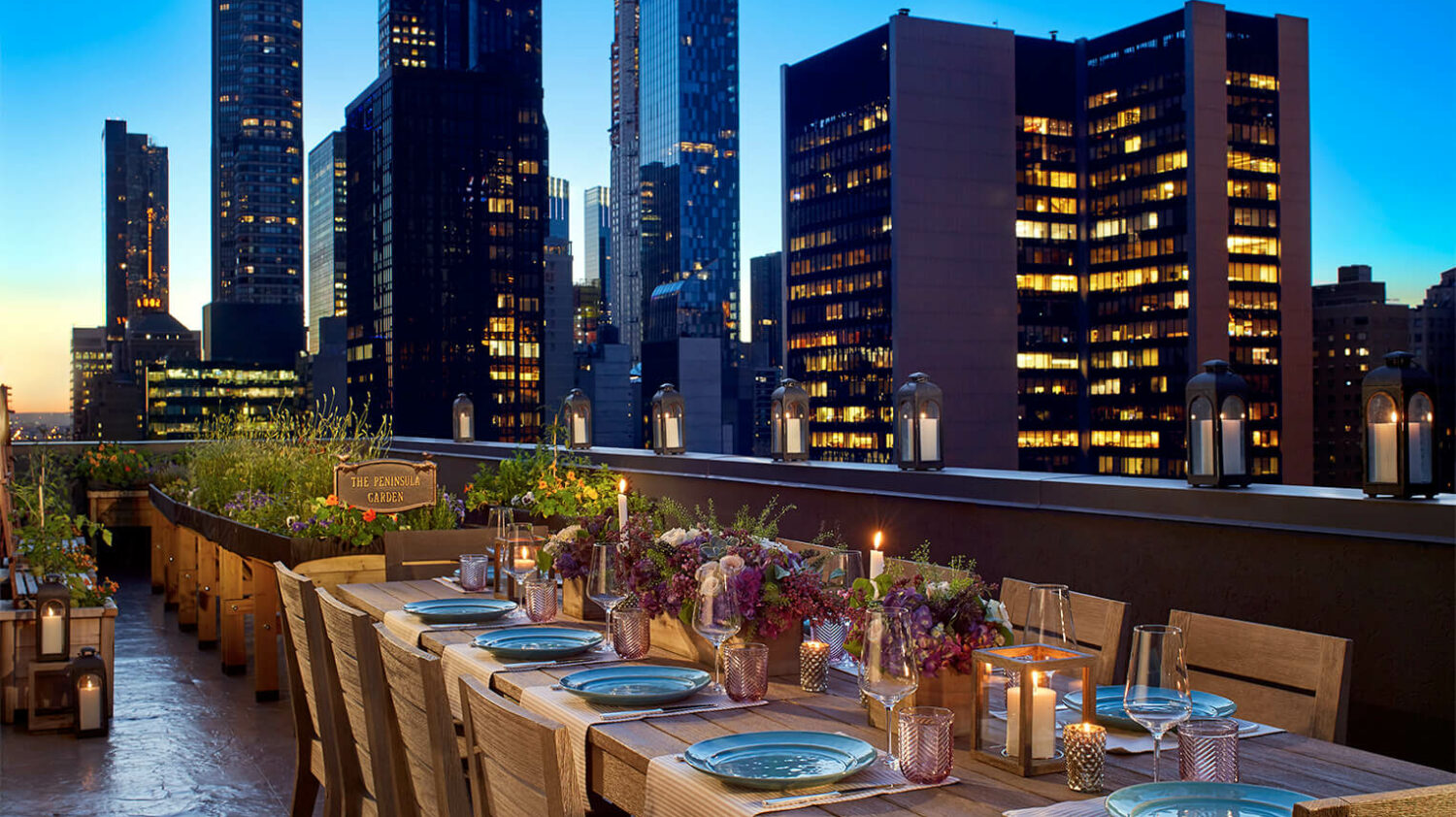 rooftop garden private dining-peninsula new york city