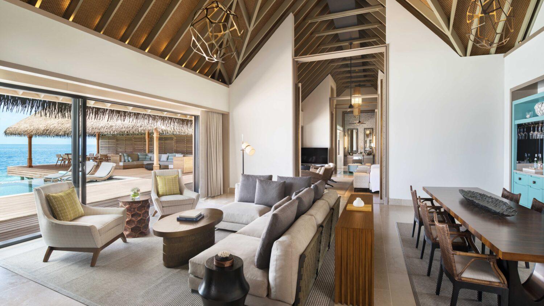 livingroom overwater villa-waldorf astoria ithaafushi maldives