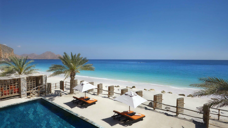 pool view beach-six senses zighy bay oman