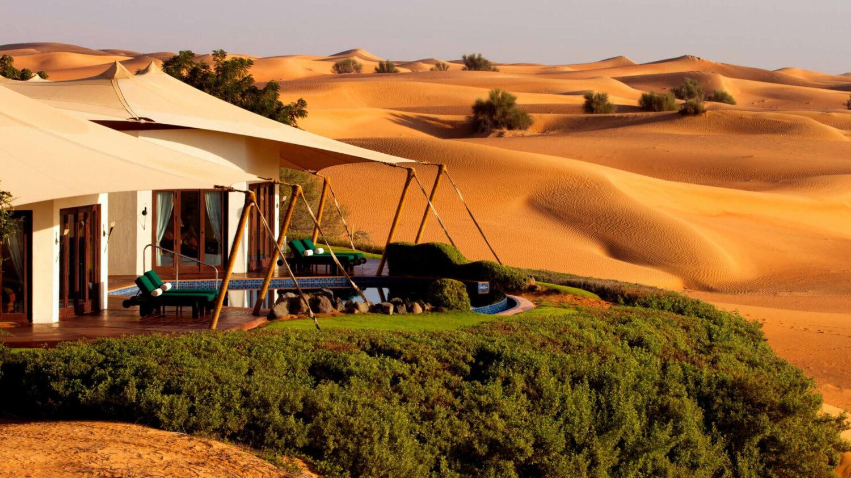 luxury tents desert-al maha desert resort
