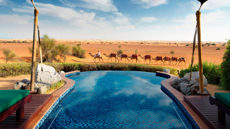 pool view-al maha desert resort