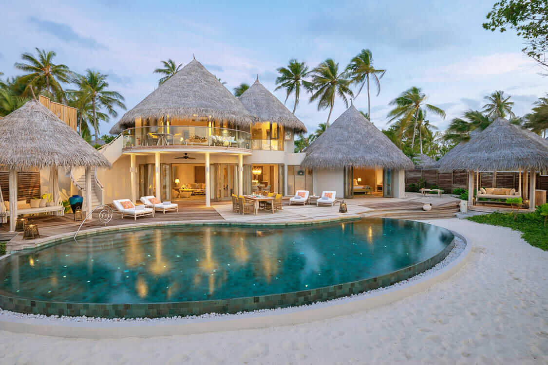beach villa with pool-the nautilus maldives