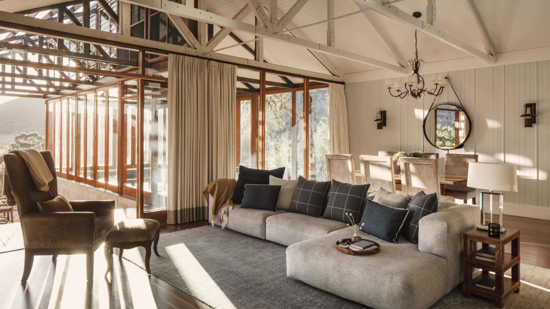 modern livingroom-emirates one&only wolgan valley australia