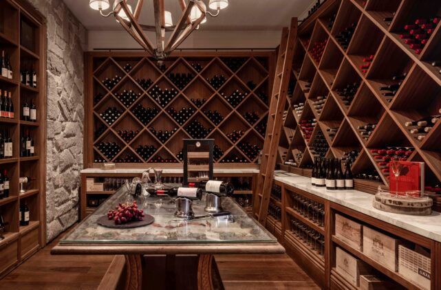 wine cellar hotel-emirates one&only wolgan valley australia