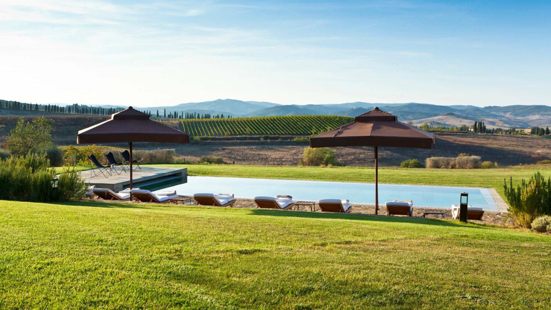 pool view-rosewood castiglion del bosco italy