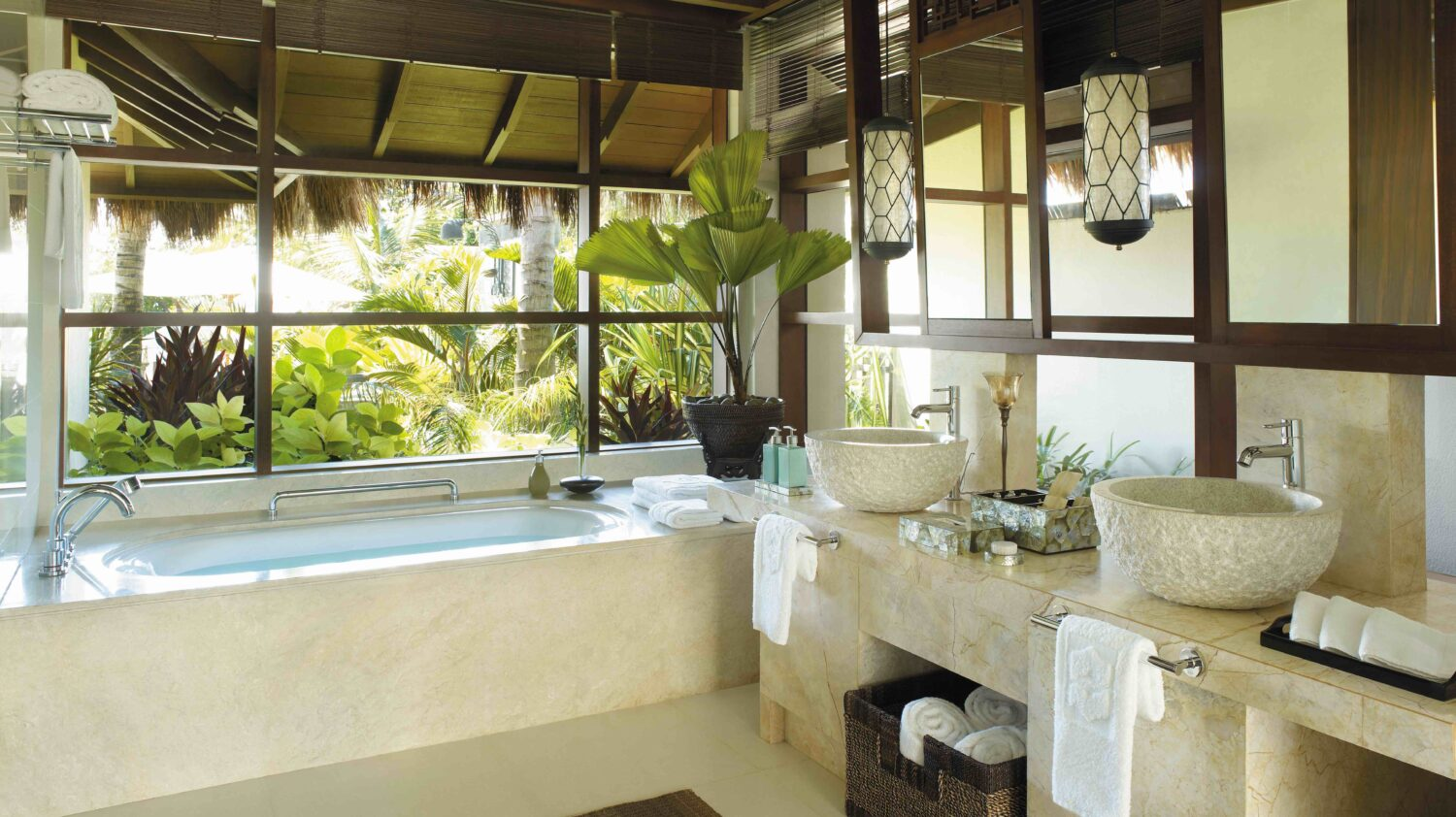 spacious bathroom-shangri-la's boracay resort & spa philippines