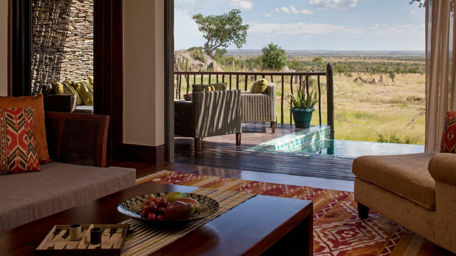 terrace with pool-four seasons safari lodge serengeti