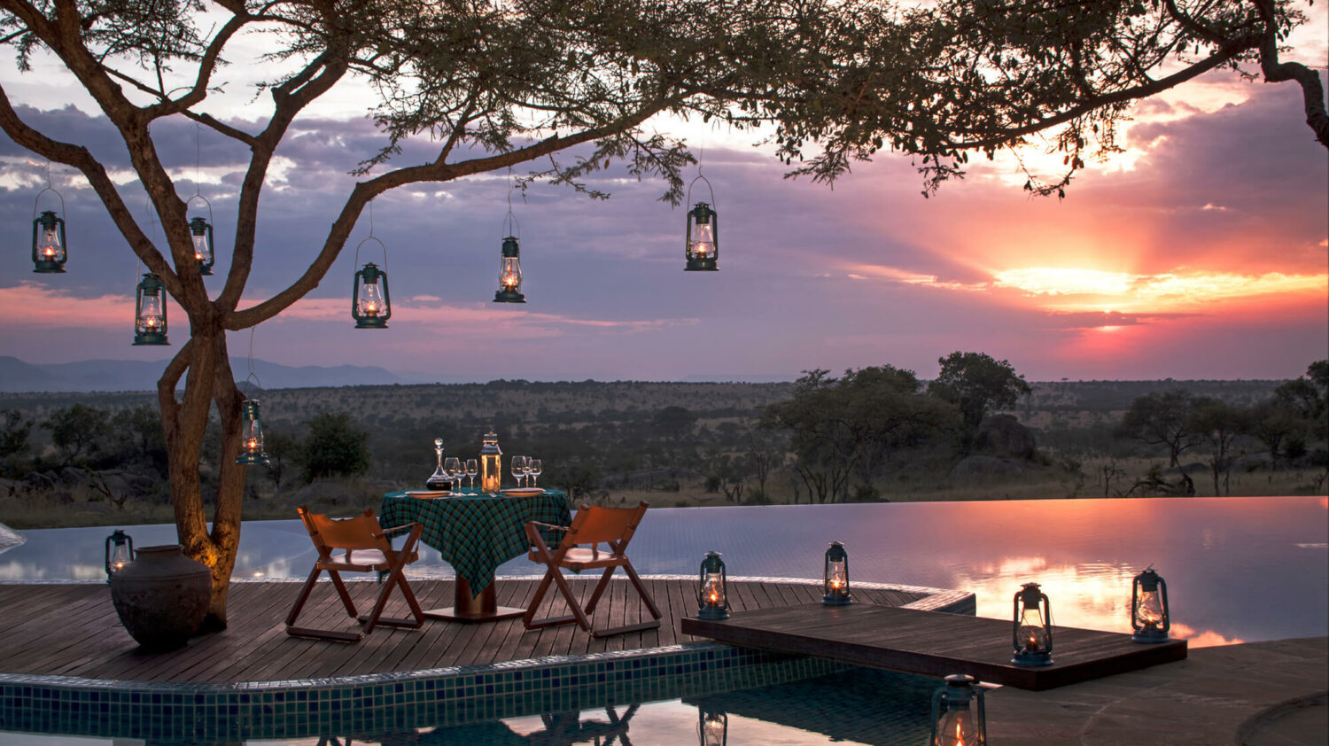 private dinner sunset-four seasons safari lodge serengeti