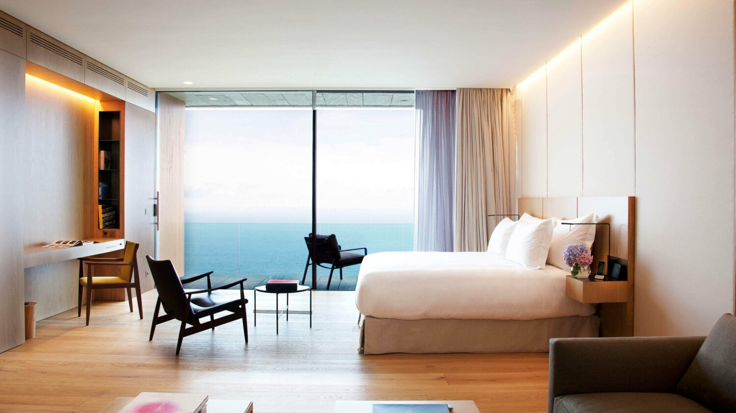 bedroom ocean view-akelarre spain