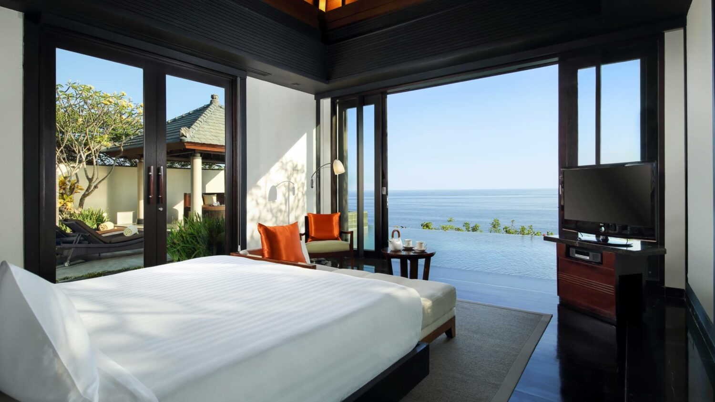 bedroom ocean view-banyan tree ungasan bali