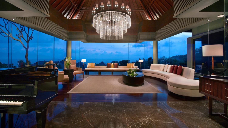 presidential villa livingroom-banyan tree ungasan bali