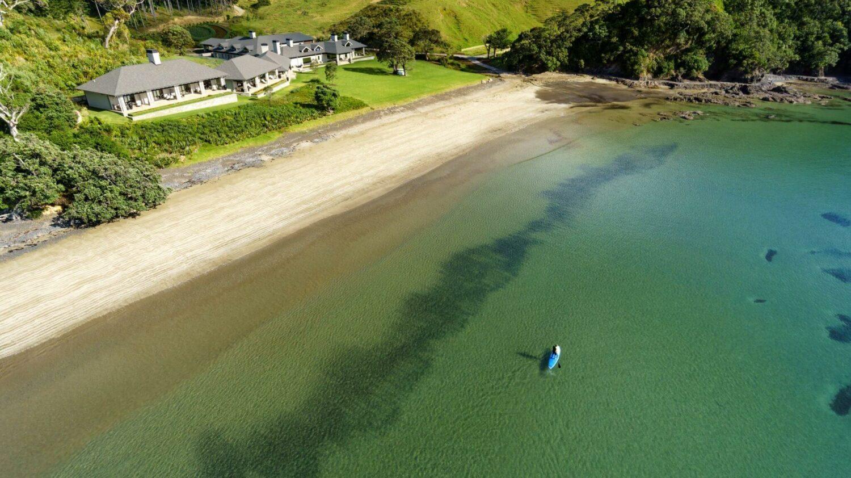 private beach-helena bay lodge new zealand