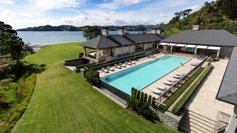 pool area-helena bay lodge new zealand