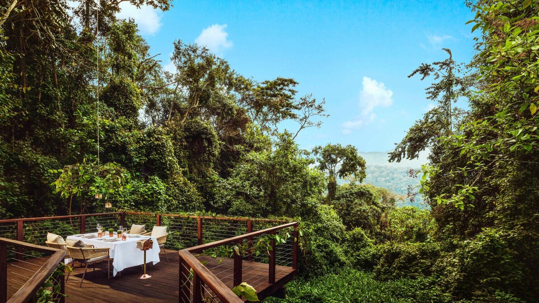 dining deck-one&only nyungwe house rwanda
