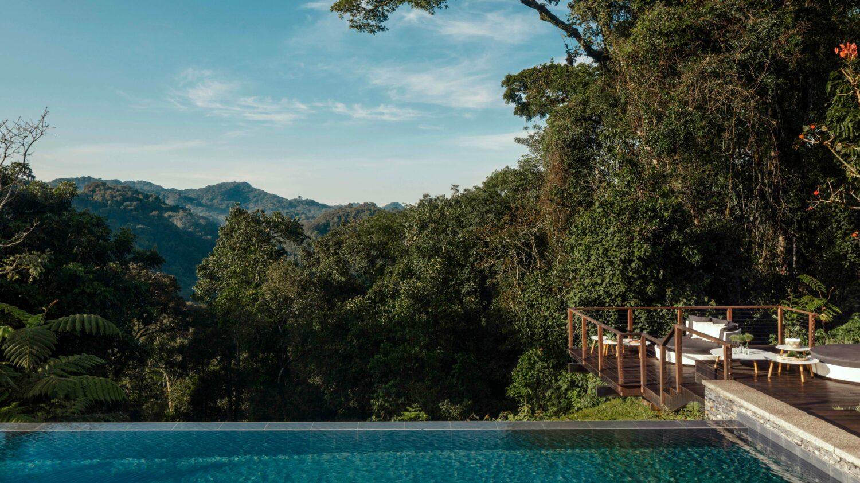 infinity pool-one&only nyungwe house rwanda