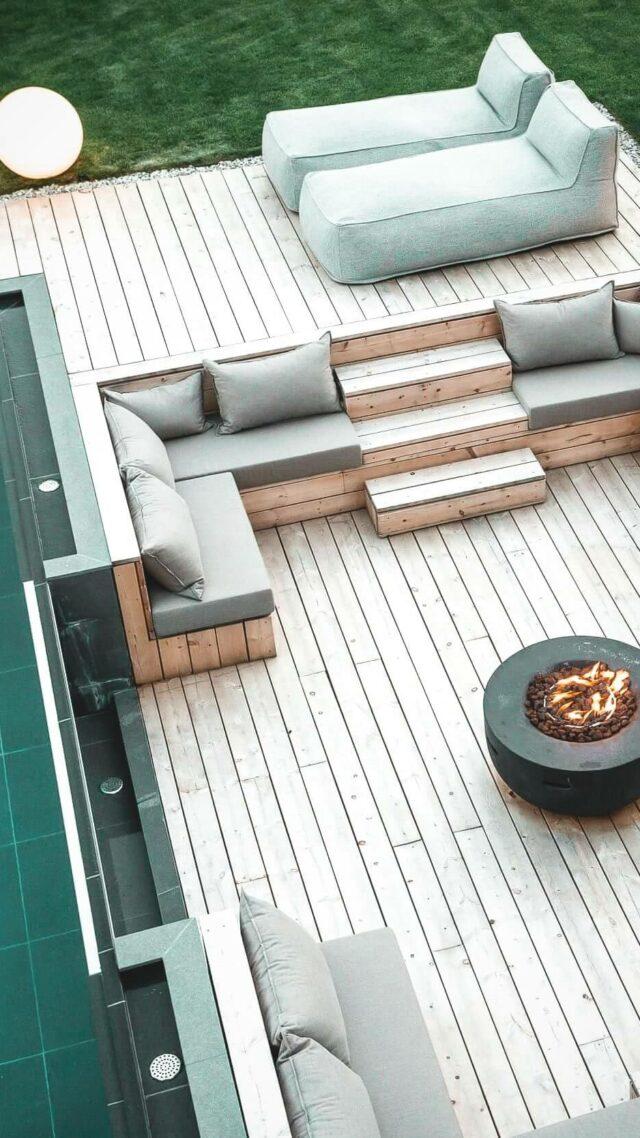outdoor pool area-silena hotel