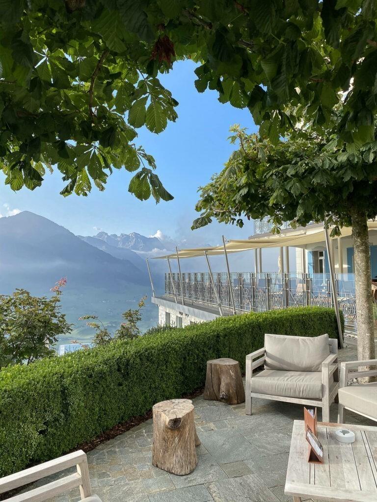 Villa Honegg restaurant sun terrace