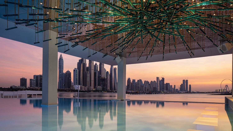 FIVE palm jumeirah dubai-pool-view-skyline