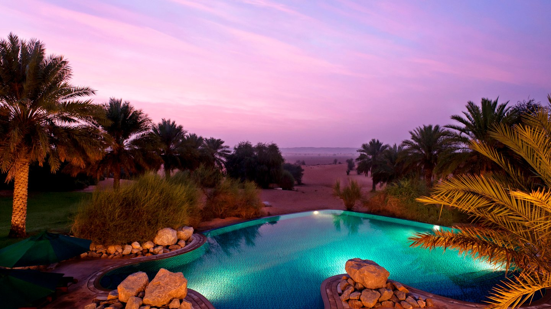 al maha desert resort spa-sunset-view
