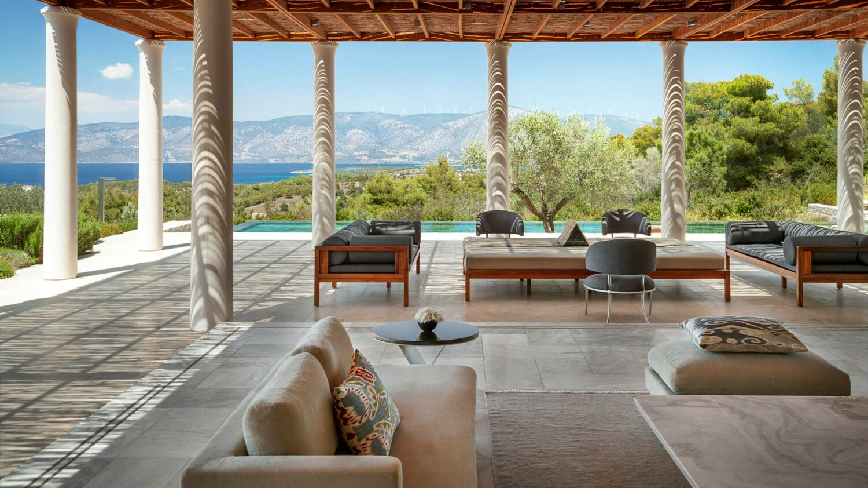 amanzoe greece-lounge-five-bedroom-villa
