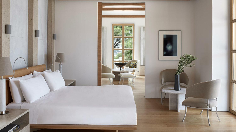 amanzoe greece-villa-bedroom
