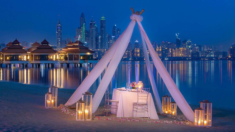 anantara the palm dubai resort-private-dinner-beach